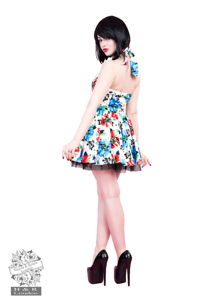 Blue Hardy Geraniums Short Dress