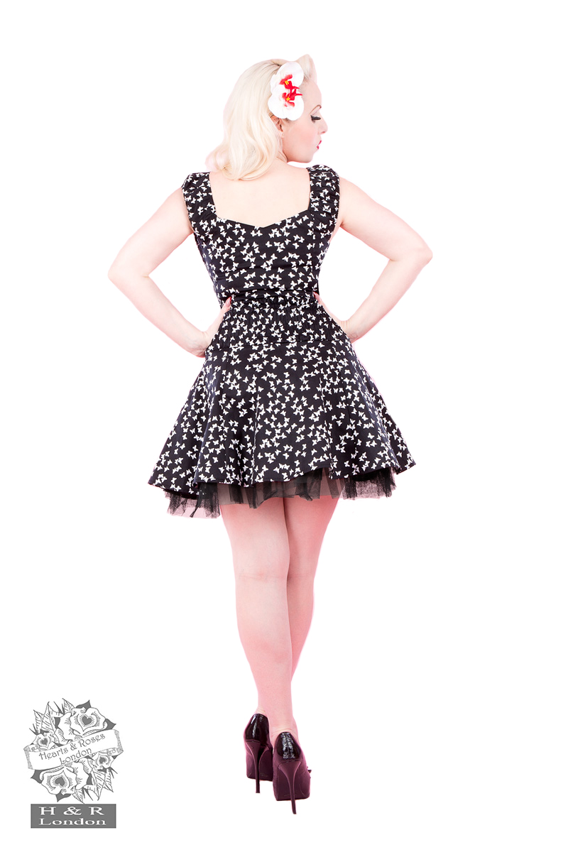 Petite Butterfly Dress in Black
