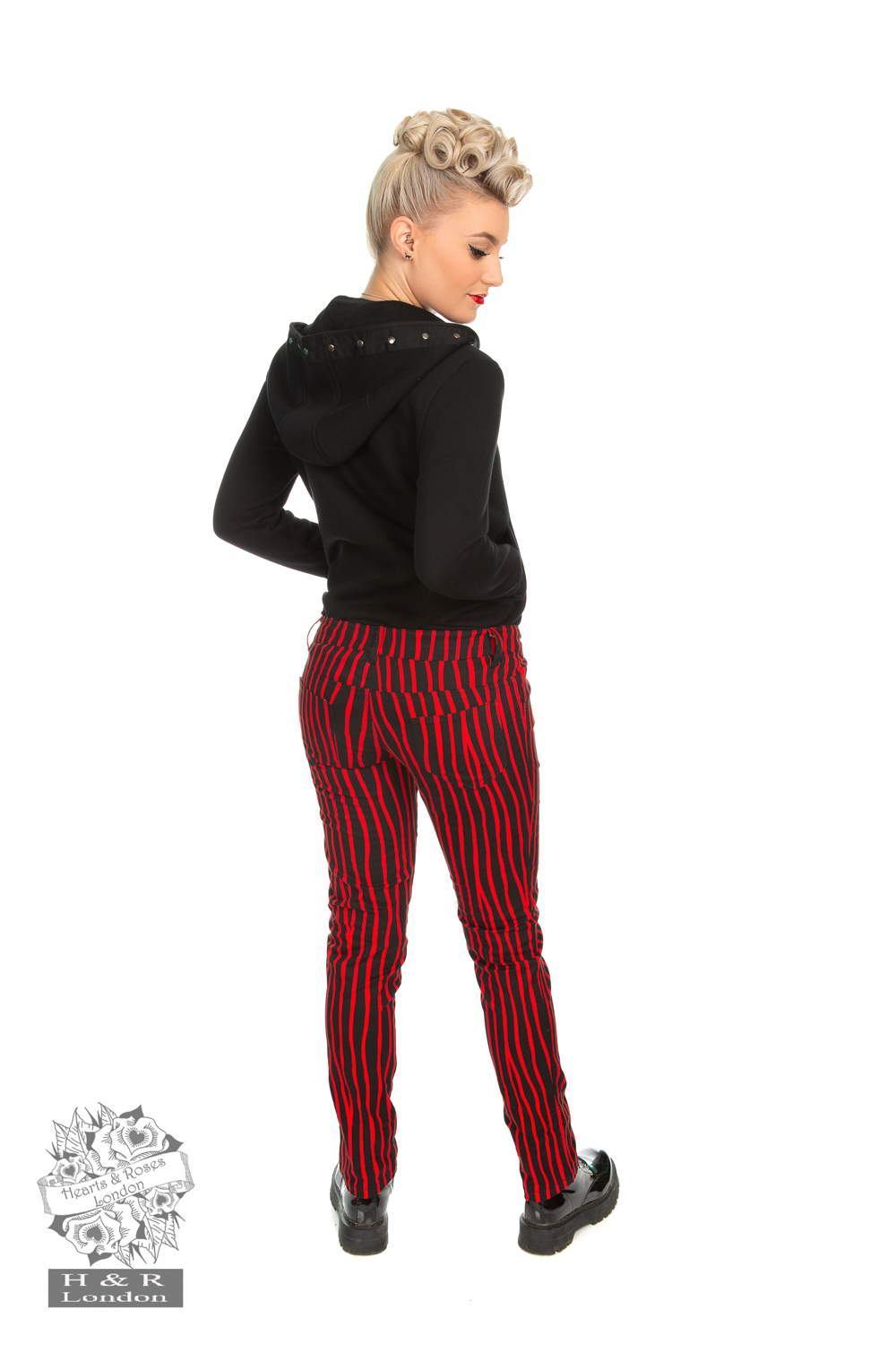 Cassie Red Stripe Trouser