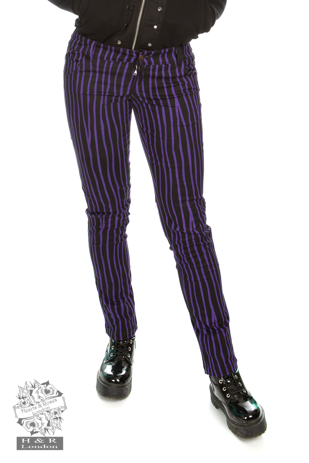 Cassie Purple Stripe Trouser