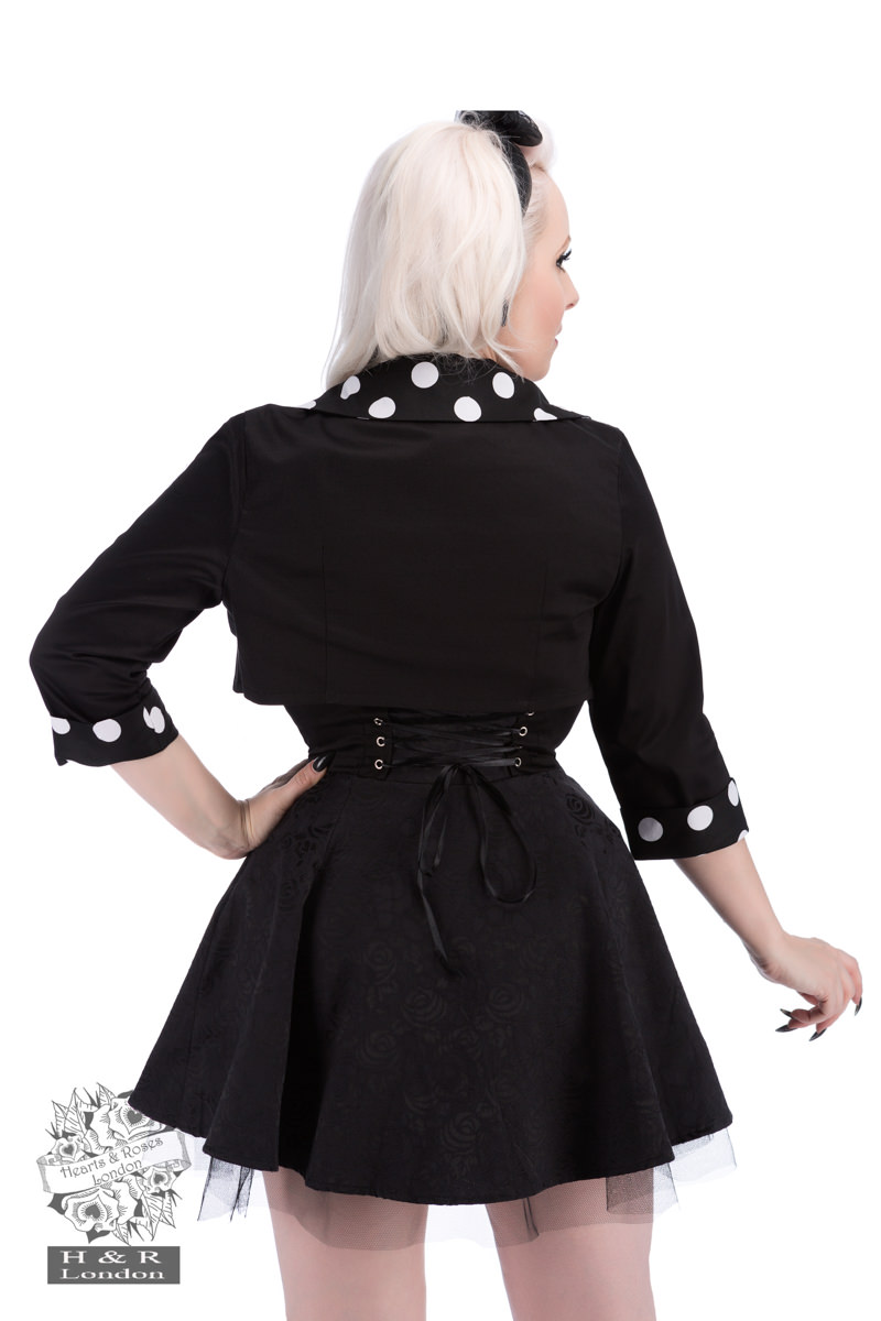 Black White Big Polka Dot Bolero