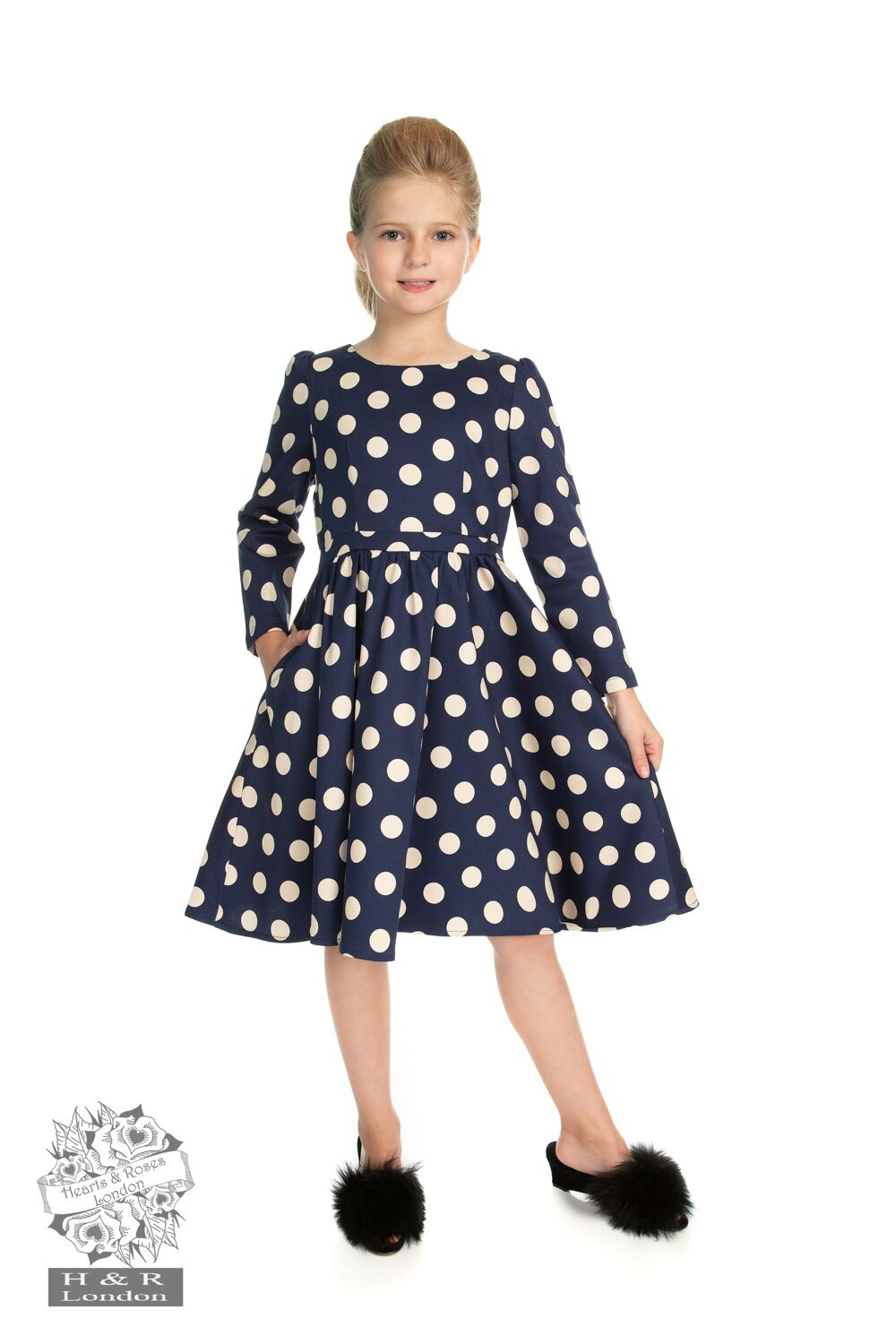 Girls Milana Polka Dot Swing Dress