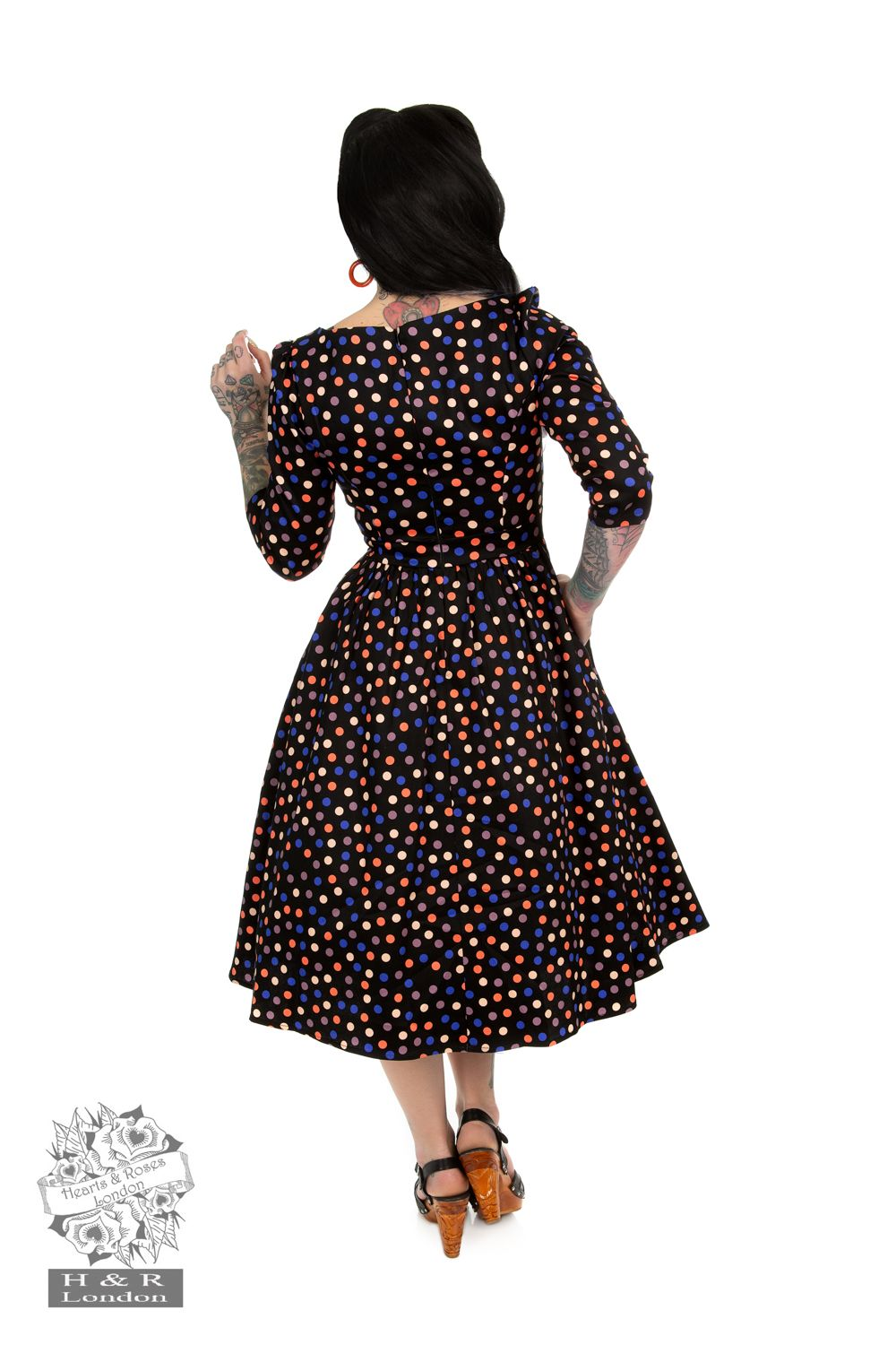 Ophelia Polka Dot Swing Dress