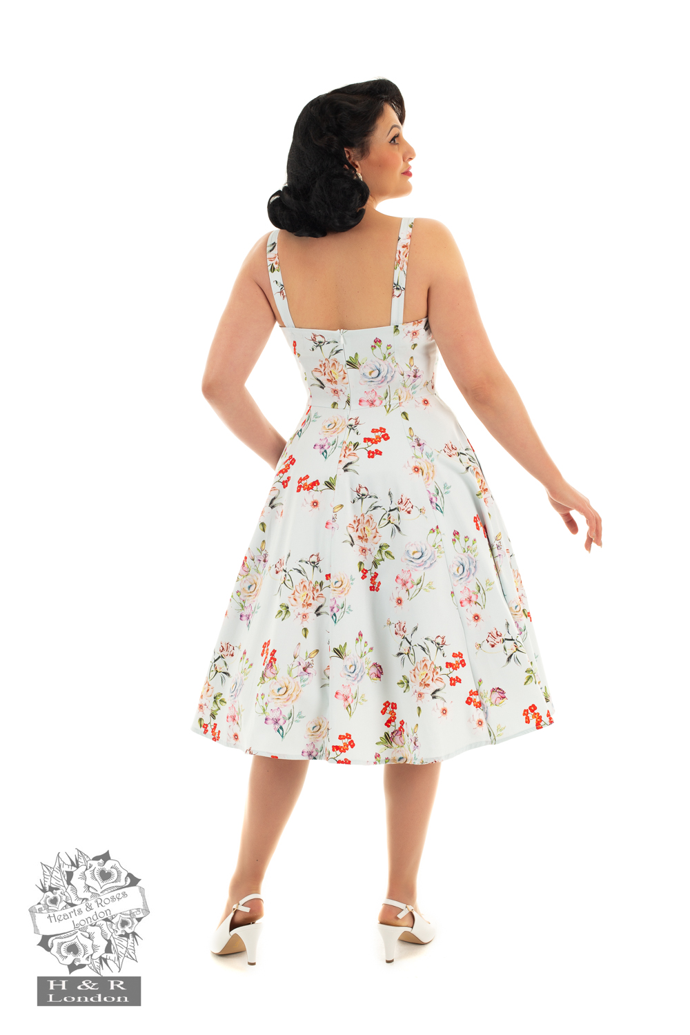 Monroe Floral Swing Day Dress
