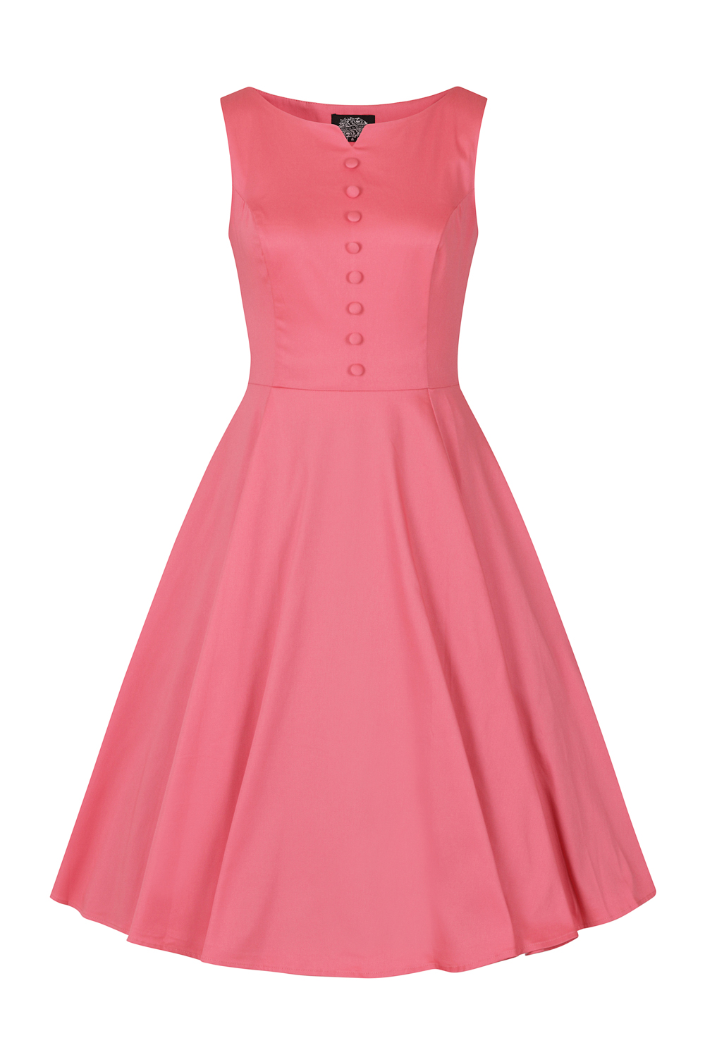 Pink Donna Swing Dress In Plus Size