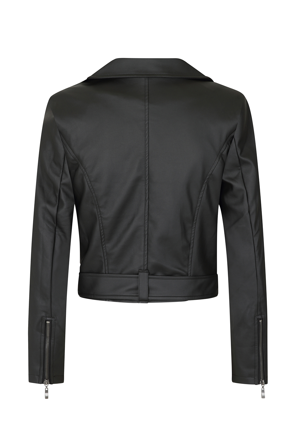 Ebony Lady Faux Leather Jacket