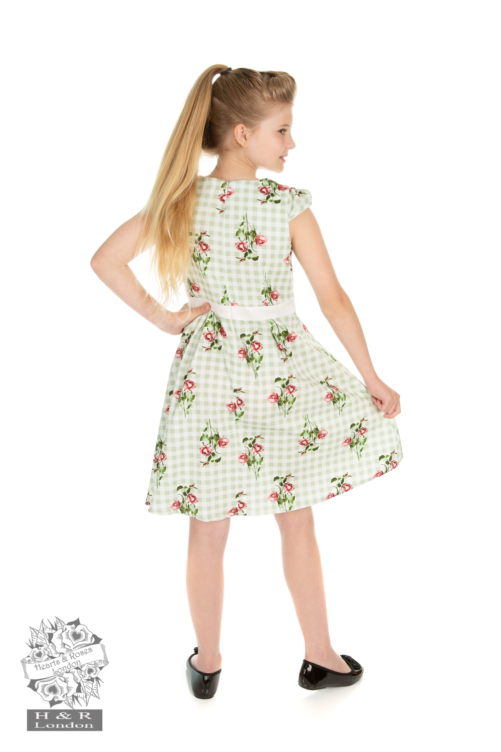 Girls Summer Rose Swing Dress