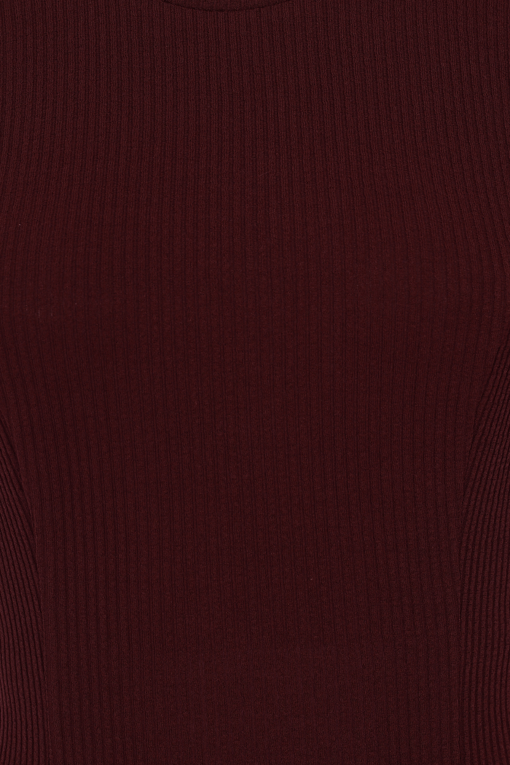 Susan Knitted Top in Burgundy