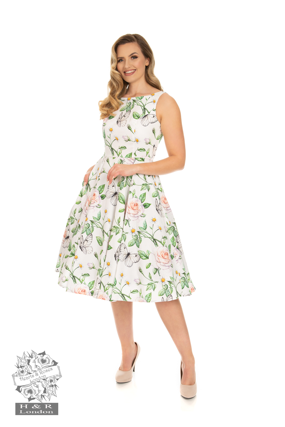 Nora Floral Swing Dress