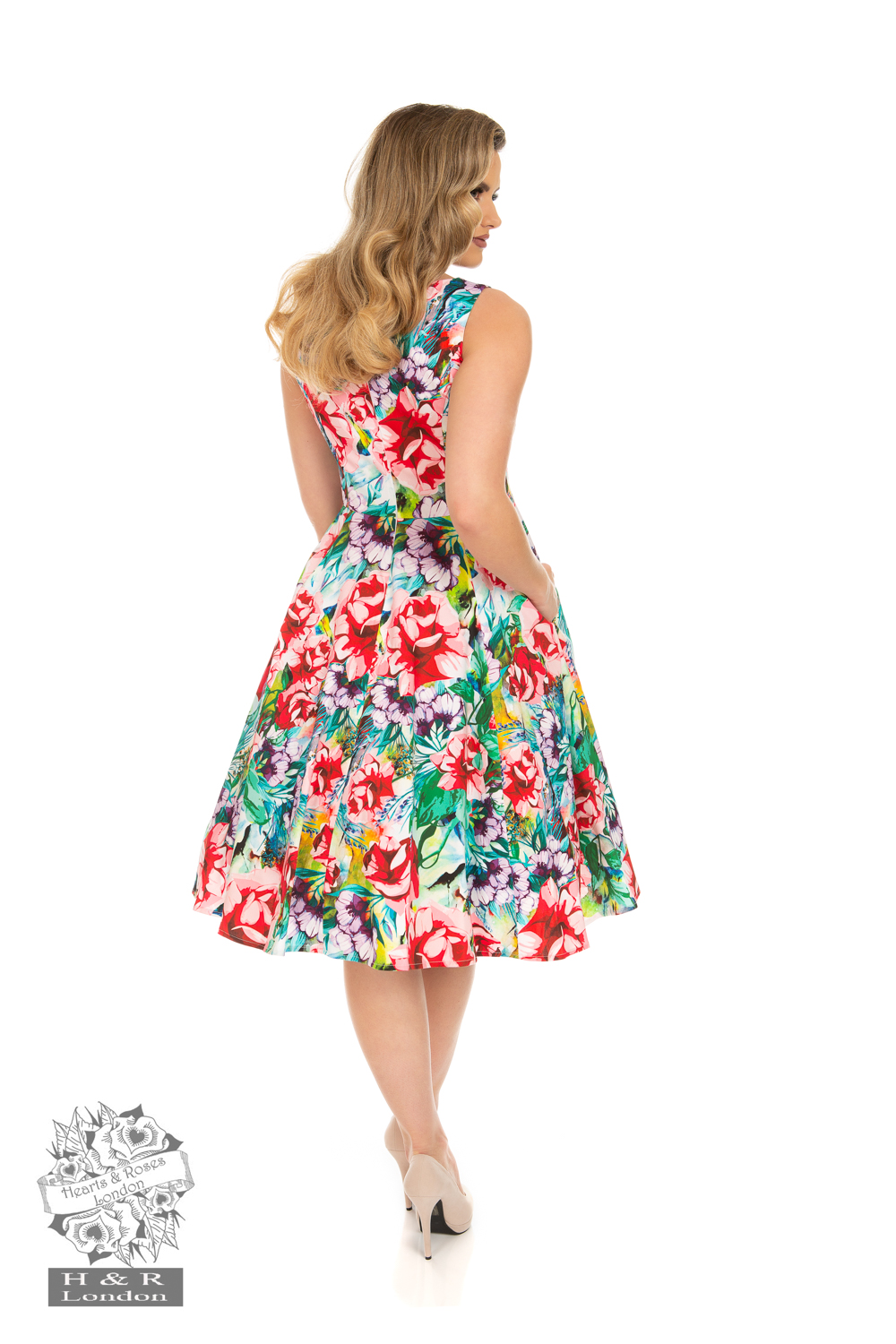 Margot Floral Swing Dress