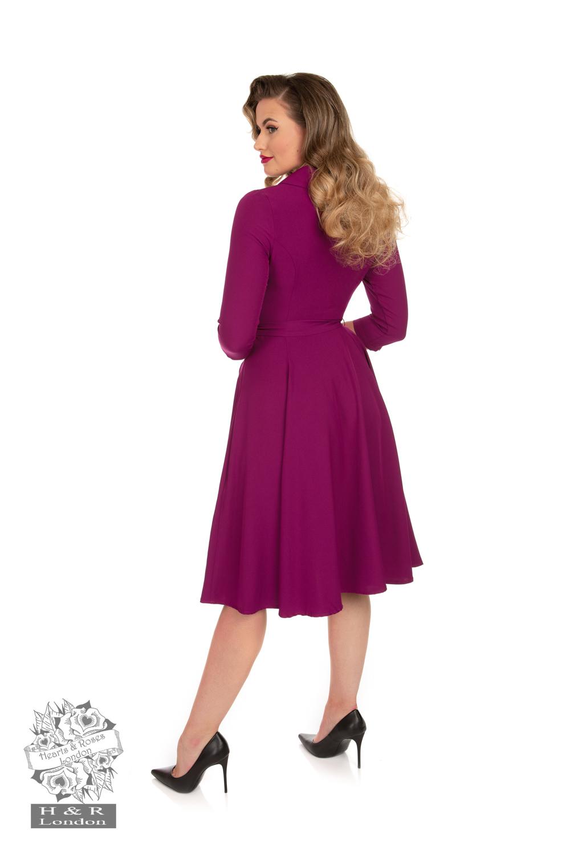 Gabriella Swing Dress in Plum