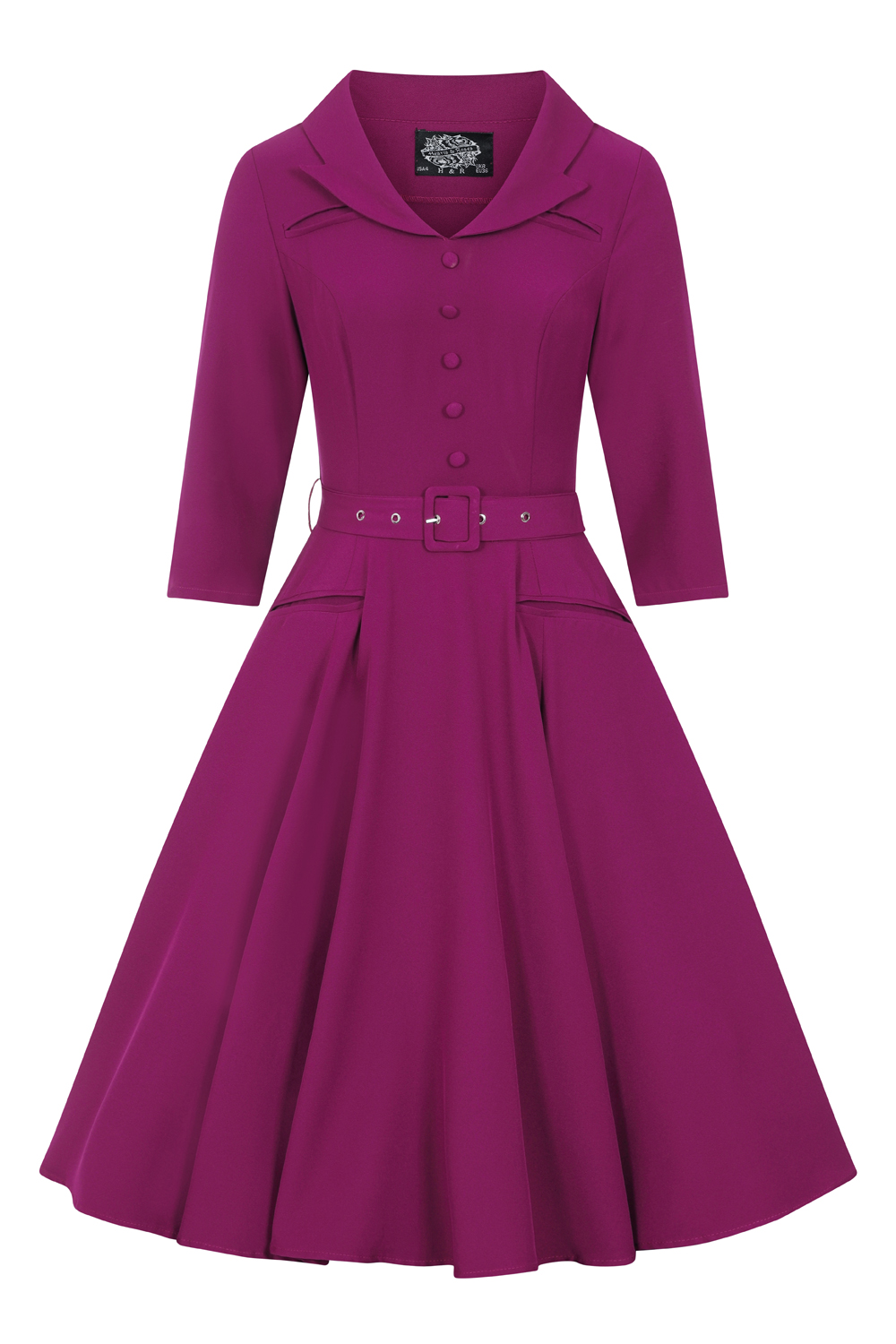 Gabriella Swing Dress in Plum