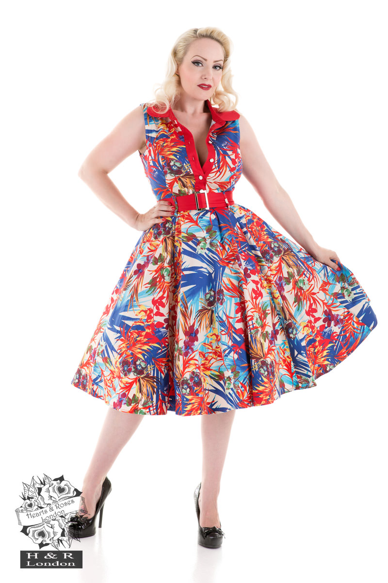 Amazon Floral Swing Dress