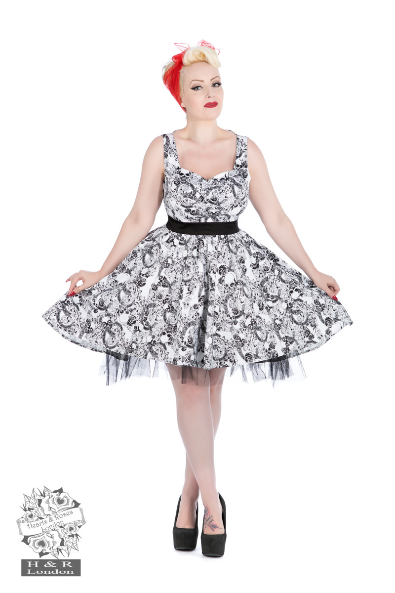 50s Rockabilly Skulls Dress