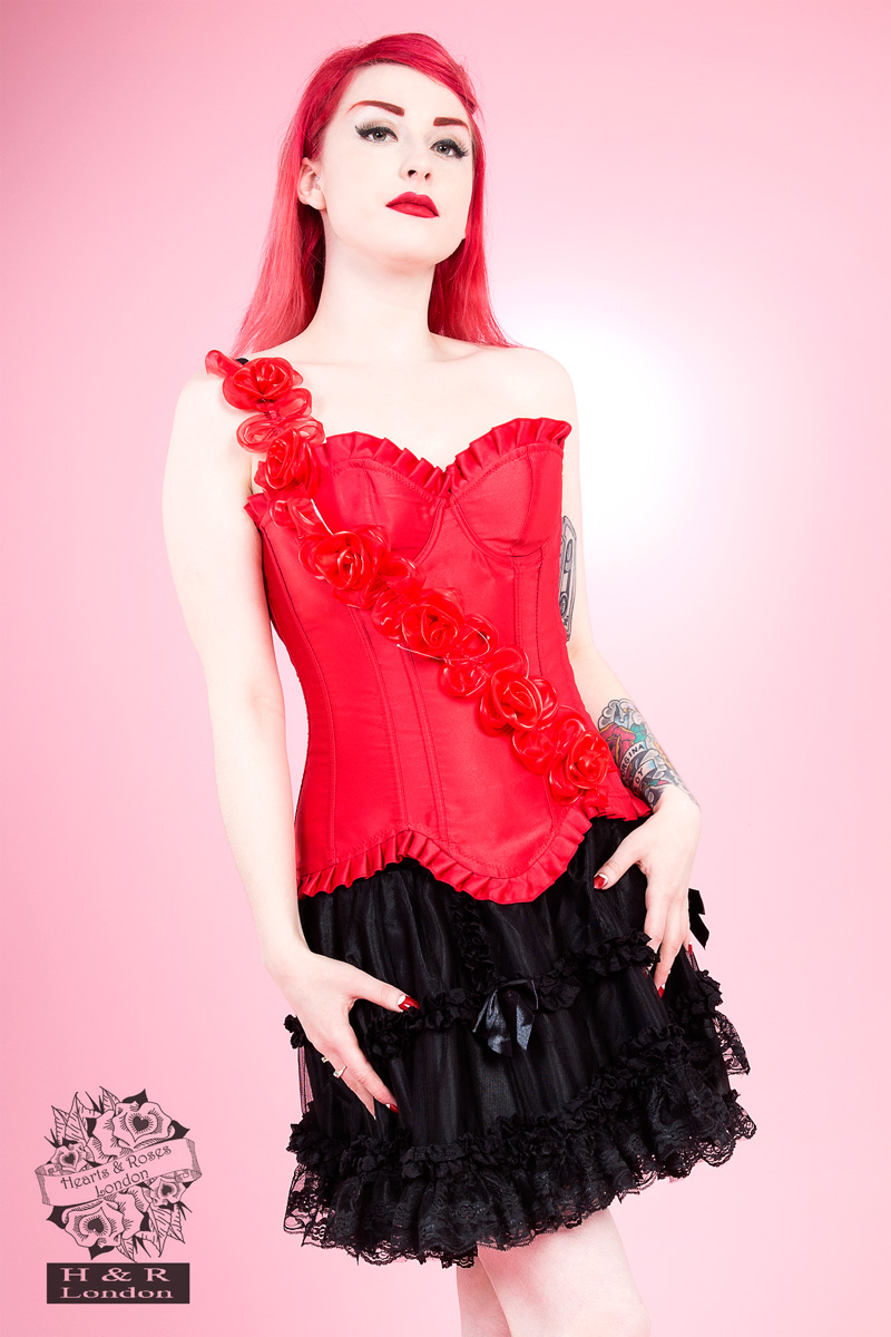Red Burlesque Corset