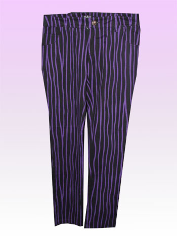 Cassie Purple Stripe Trouser