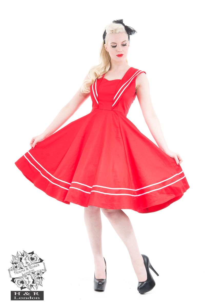 Red Sailor Dress