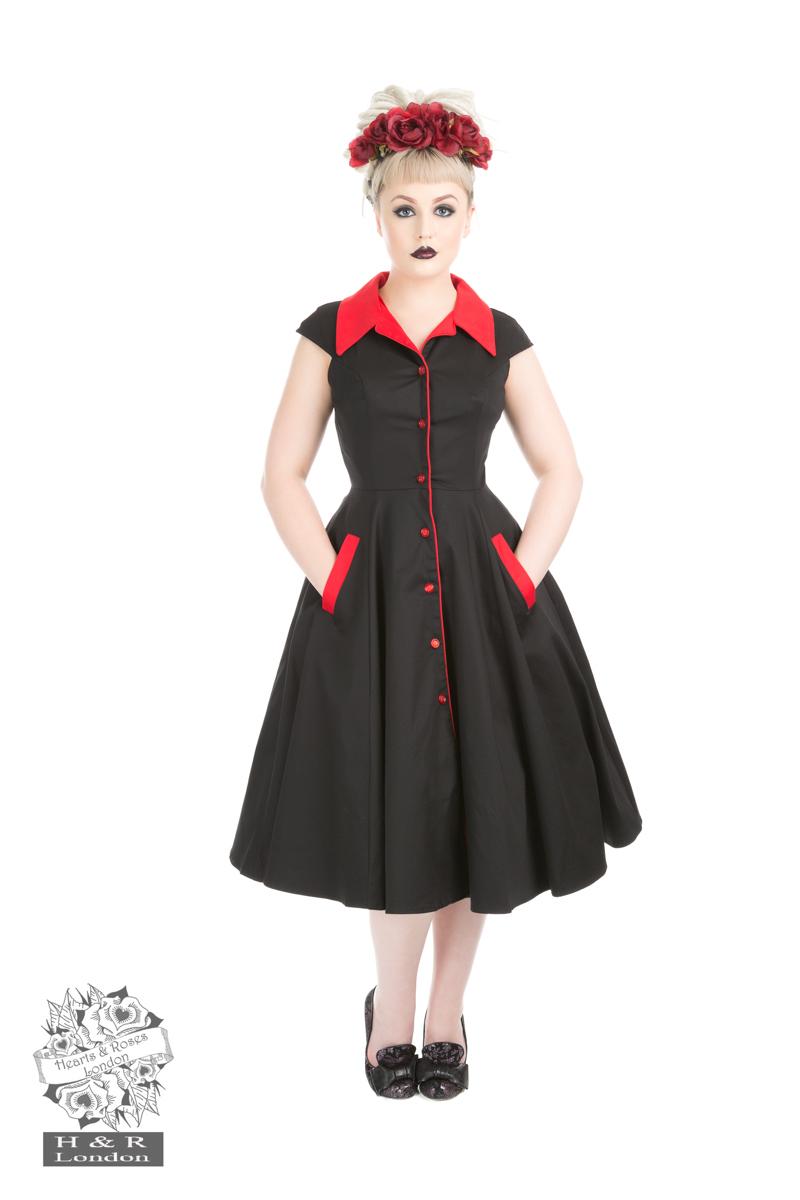 Meadow Black Red Swing Dress ONLY 8.10.16