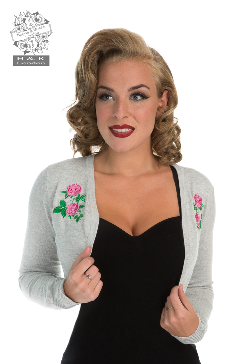 Centifolia Rose Shrug In Grey
