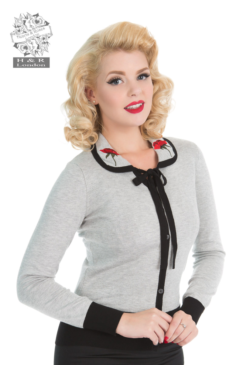 Rose Cardigan In Grey