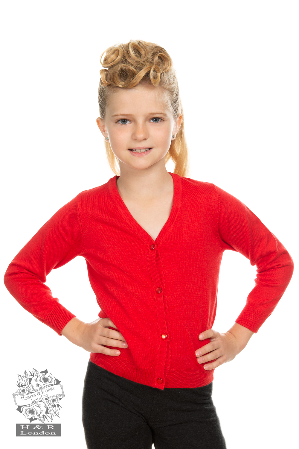 Girls Red Cardigan