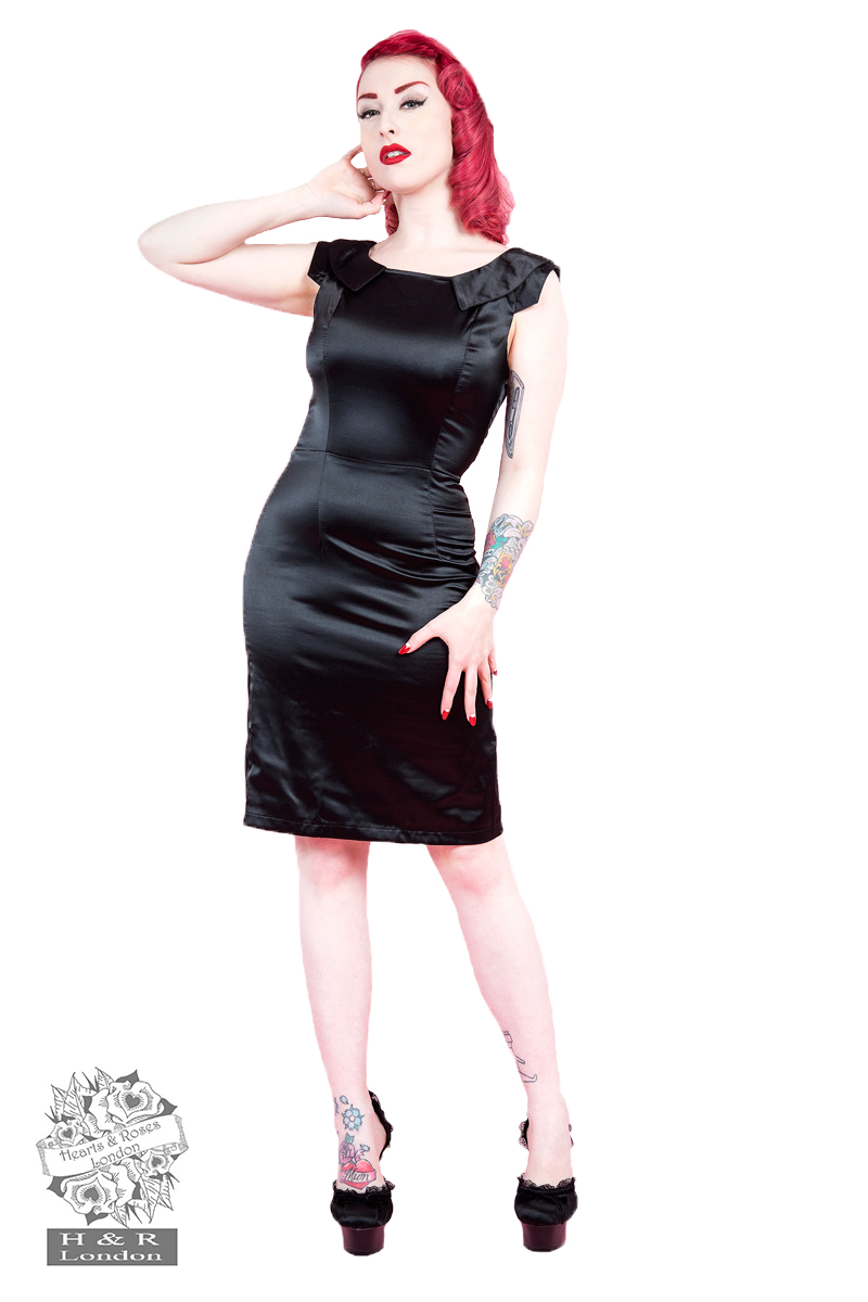 Black Diamante Wiggle Dress