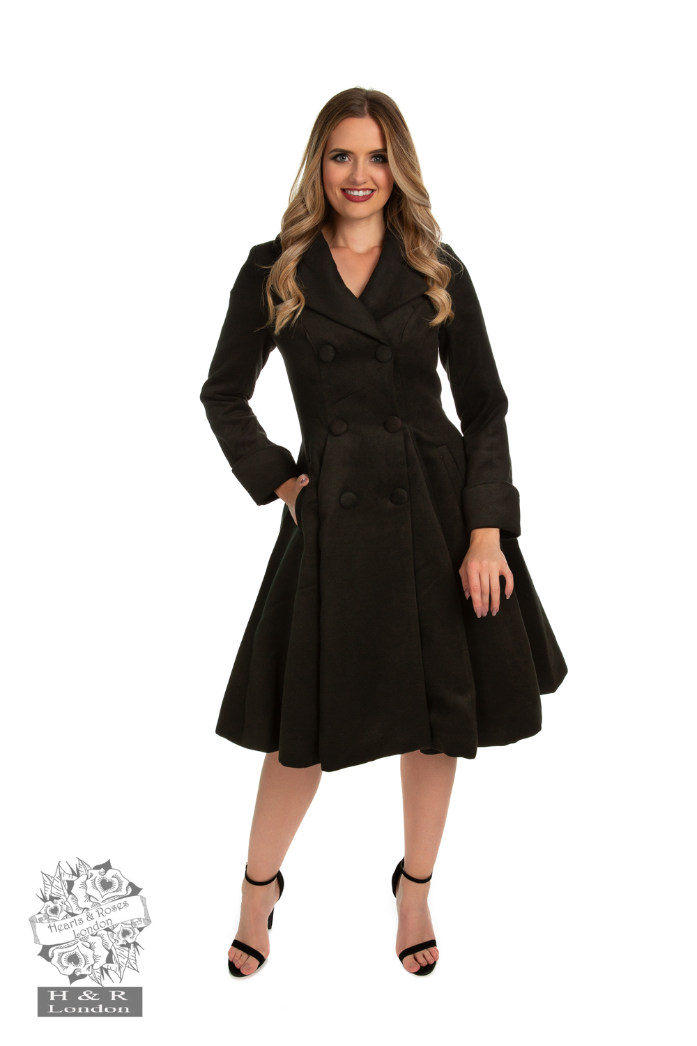 Eleanor Swing Coat in Black
