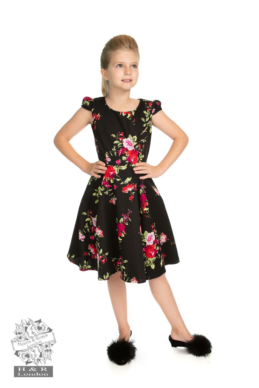 Girls Royal Ballet Tea Dress in Black