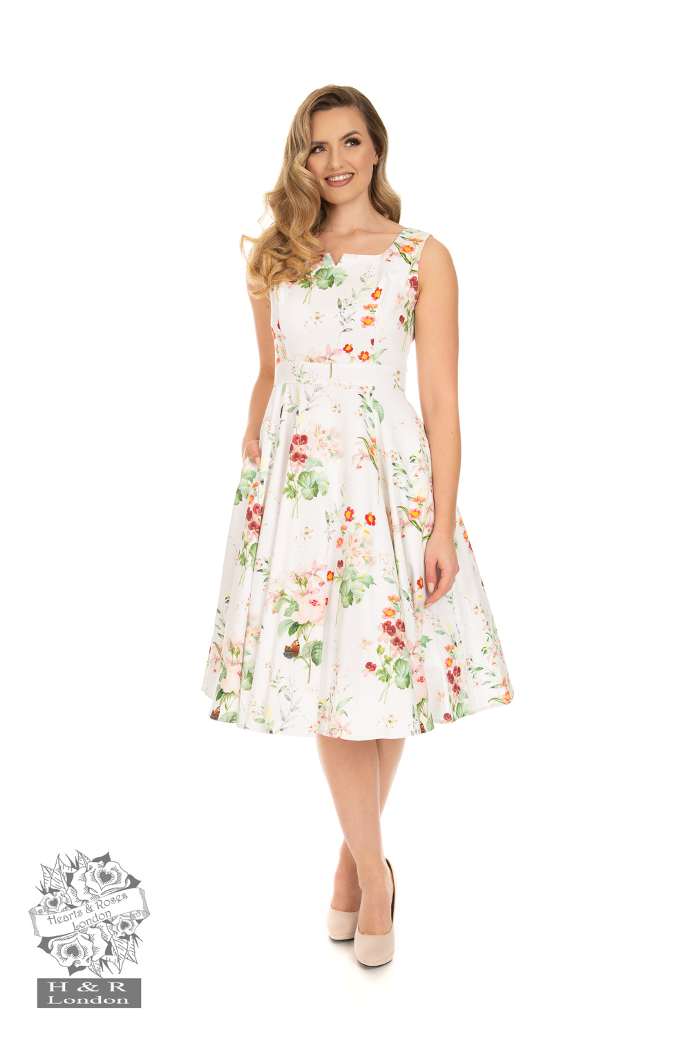 Marion Floral Swing Dress